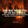 She was beautiful, but she was beautiful in the way a forest fire was beautiful: something to be admired from a distance, not up close
