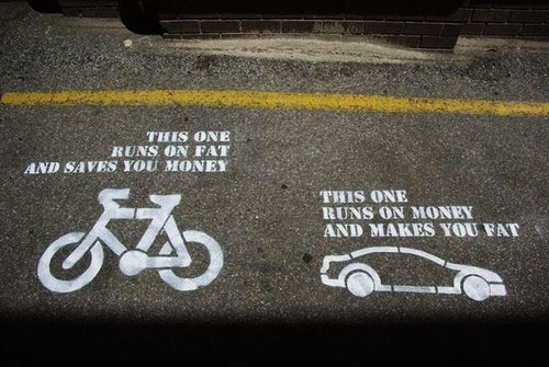 [Bike v/s Car: fat & money]