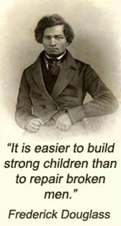 It is easier to build strong children than to repair broken men