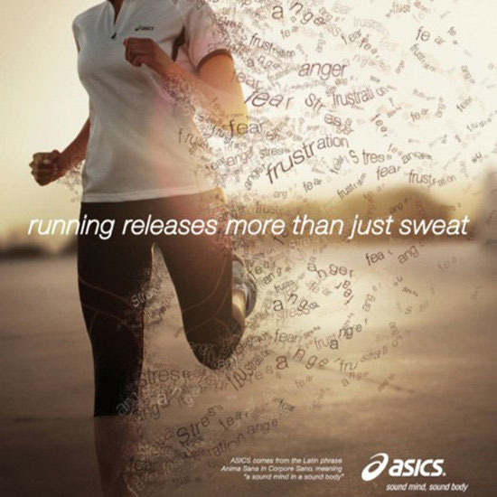 Running releases more than fat.