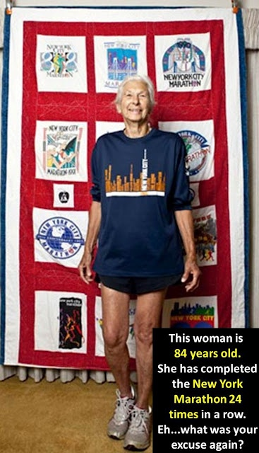 84 year old marathon runner!