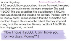 A touching story...
