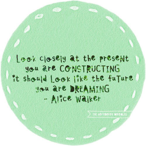 Look closely at the present you are constructing, it should look like the future you are dreaming.