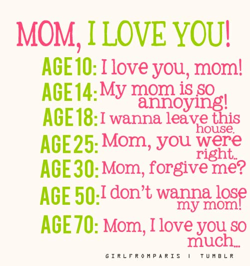 I Love You Mom Quotes And Images : Mom, I love you!