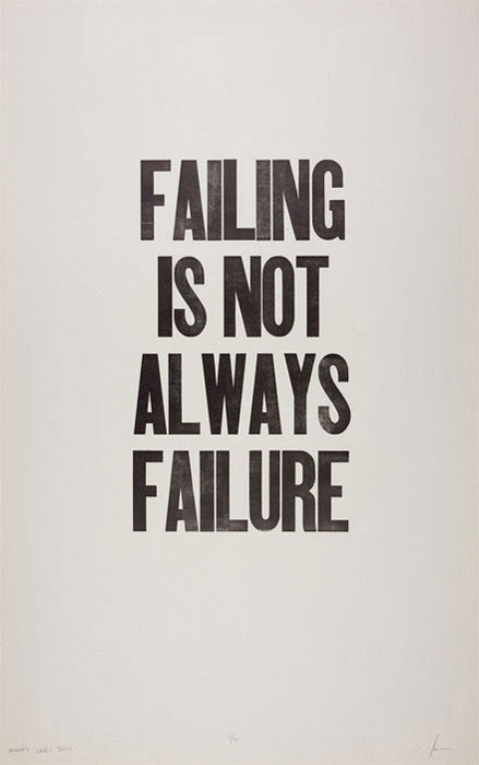 Failing is not always failure