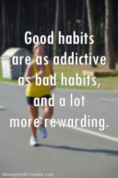 Goo habits are as addictive as bad habits, and a lot more rewarding