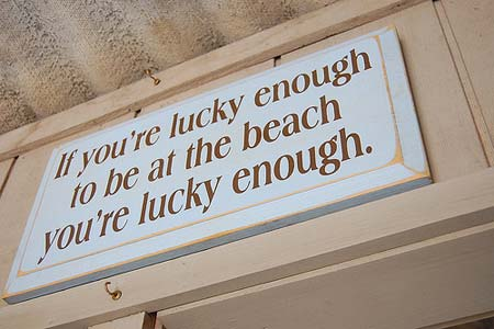 If you're lucky enough to be at the beach you're lucky enough
