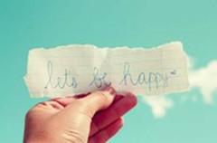 Let's be happy