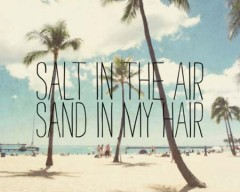 Salt in the air, sand in my hair