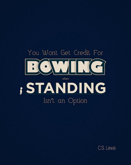 You wont get credit for bowing when stading isn't an option