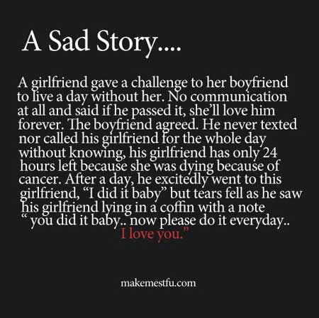 A Sad Story…