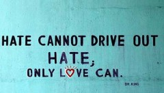 Hate cannot drive out hate, only love can