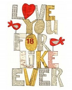 Love you for like ever