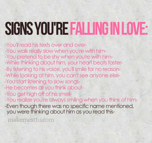 12 signs your falling in love