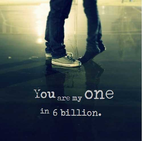 you are my one: